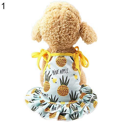 strimusimak Lovely Ananas Pet Dog Cat Dress/Vest Sommer Kostüm Apparel Couple Outfit-L Pet Dress (Cat Dog Kostüm)