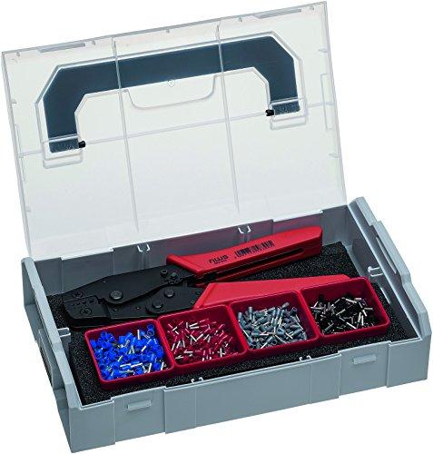 NWS 338-21 Crimp-Hebelzange und Aderendhülsen-Sortiment in Sortimo L-BOXX Mini