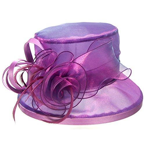 Eden hats - Capeline - Femme Bleu bleu Taille Unique Violet