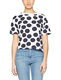ONLY Onldots s Aop Top Ess, Camiseta sin Mangas para Mujer, Multicolor (Cloud Dancer), 42 (Talla del Fabricante: X-Large)