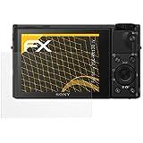 3 x atFoliX Película Protectora Sony DSC-RX100 IV Lámina Protectora de Pantalla - FX-Antireflex anti-reflectante