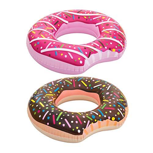 Cisne 2013, S.L. Donut-Schwimmer, Motiv: Schokolade, Sprinkles für Erwachsene, Maße: 107 cm Schwimmring für Strand oder Pool, Schokolade.