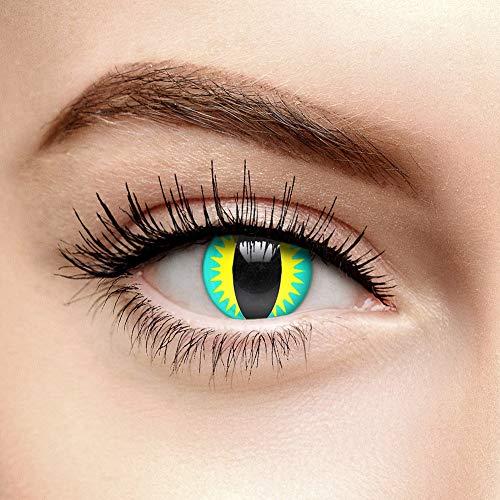 Drachenaugen Farbige Kontaktlinsen Ohne Stärke Grün (90 Tage)