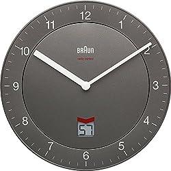 Braun BNC006GYGY-NRC - Reloj de pared (AA, Gris)