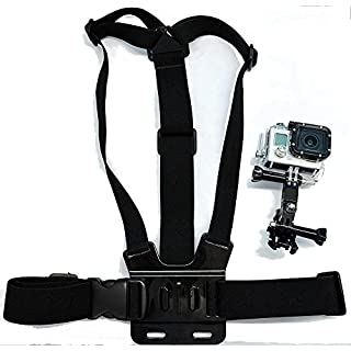 Navitech Brustgürtel / Kamerakörperhalterung für ACCFLY H9R Ultra 2.0 Inch 170 Degree 12MP Waterproof WiFi Sport Camera