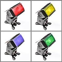 Juego de 2 Total 24 PCS Gomas de destello transparentes universales Juegos de combinación de filtros de iluminación para la luz del flash de la cámara