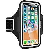 حافظة حزام الذراع الرياضي للركض والركض لصالة الألعاب الرياضية مع حزام ذراع للهواتف المحمولة، أسود