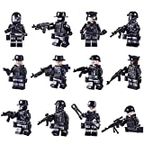 LoKauf 12St. Mini Figuren Set Armee Minifiguren SWAT Team Soldaten Minifiguren Set