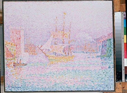 Marseille Schlafzimmer (Das Museum Outlet–Signac, Paul–The Harbour bei Marseille, gespannte Leinwand Galerie verpackt. 40,6x 50,8cm)