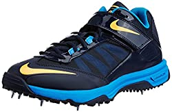 Nike Mens Lunar Accelerate Obsidian,Atomic Mango,Photo Blue Cricket Shoes -8 UK/India (42.5 EU)(9 US)