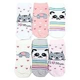 TupTam Unisex Kinder Socken Bunt Gemustert 6er Pack, Farbe: Mädchen 3, Größe: 19-22