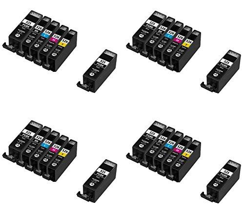 Preisvergleich Produktbild Prestige Cartridge PGI-525/CLI-526 24-er Pack Druckerpatronen für Canon Pixma IP4800, IP4820, IP4840, IP4850, IP4870, IP4950, MG5120, MG5140, MG5150, MG5170, MG5220, MG5240, MG5250, MG5270, MG6120, MG6140, MG6150, MG6170, MG8120, MG8140, MG8150, MG8170, IX6520, IX6550, MX882, MX885, schwarz / photoschwarz / cyan / magenta / gelb