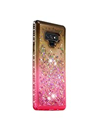 FAWUMAN Funda Samsung Galaxy Note9 Silicona Purpurina Carcasa,Transparente Antichoque Cristal Bumper Telefono Fundas Case Cover para Samsung Galaxy Note9