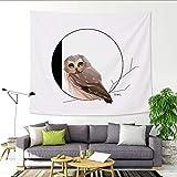 mmzki 26 englische Alphabet Tapisserie Cartoon Tier Wandbehang Malerei Decke O 150x100