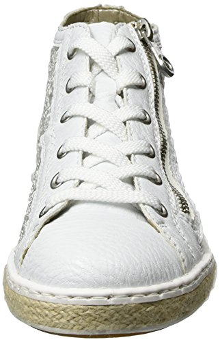 Rieker M8505, Sneakers Hautes Femme Blanc (Weiss/weiss / 80)