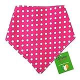 Dimples Hundehalstuch - Pink gepunktet/Punkte (Handgemacht für alle Größen und Rassen) 30cm