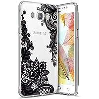 Surakey - Carcasa para Samsung Galaxy J72016–Funda delgada de silicona transparente, TPU con absorción de golpes, bumper y antiarañazos, diseño animado