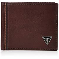 Guess Mens Passcase Wallet, Brown - 31GUE22080
