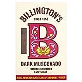 Naturel non raffiné foncé Muscovado sucre de canne de Billington (de 500g) - Paquet de 2
