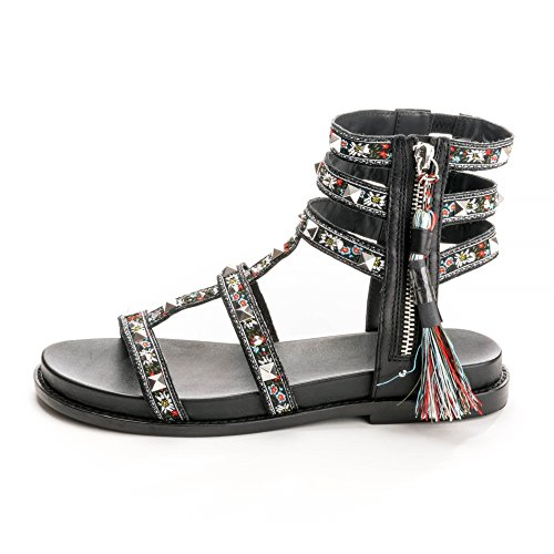 Ash Footwear Scarpe Miracle Sandali in Pelle Nero Donna Black