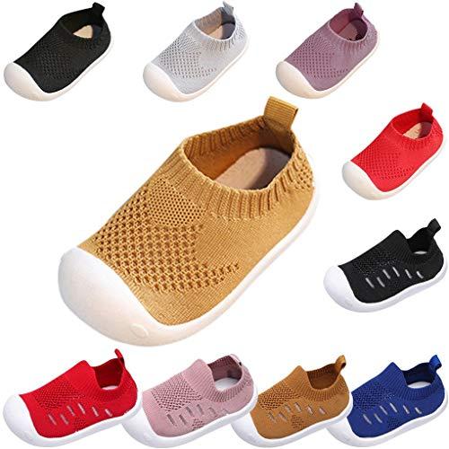Sandalen für Kinder/Dorical Sommer Unisex Baby Jungen Mädchen Lauflernschuhe Fliegendes Weben Schuhe Mesh Atmungsaktiv Sportschuhe Freizeitschuhe Krabbelschuhe mit Weiche Sohle(Braun,3.5-4 Jahre) -