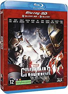 Captain America : Civil War [Combo Blu-ray 3D + Blu-ray 2D] (B01HH9Y5SO) | Amazon Products
