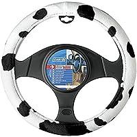 Sumex cow2021Vache style Housse de volant universelle en velours Vache, noir et blanc, 37–39cm Diamètre