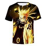 CTOOO T Shirt 3D Imprimé Naruto Col Rod Hommes XXS-3XL
