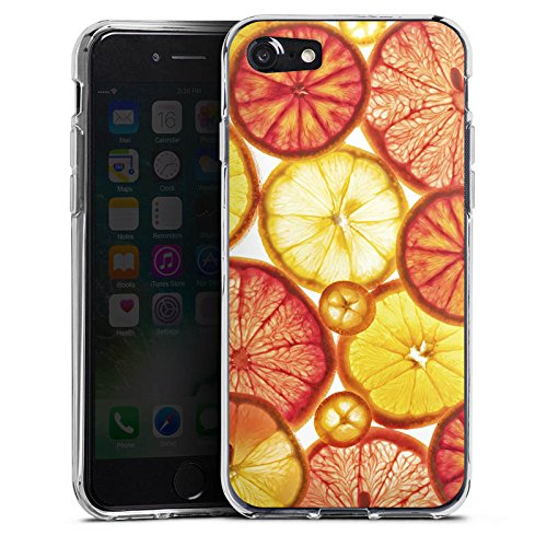 Apple iPhone X Silikon Hülle Case Schutzhülle Zitrone Orange Sommer Silikon Case transparent