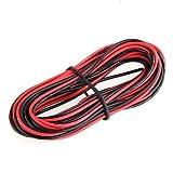 SODIAL (R) 2x 3M 24 calibre AWG de caucho de silicona cable de alambre Rojo Negro Flexible [Varios].