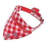 Sharplace Collare per Cuccioli Cinturino Regolabile in Pelle con Fibbia Ad Ardiglione Sciarpa Bandana - 3
