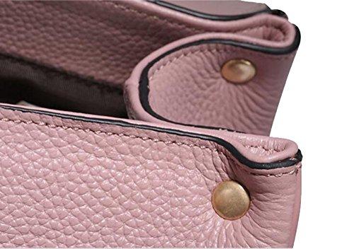 La Signora Autunno E L'inverno Primo Strato Di Borsa Fotografica In Pelle Pink