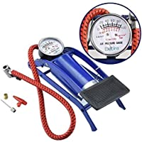 Tartefyam Foot Pump, Portable High Pressure Foot Pump, Air Tyre Inflator, Pump Compressor for Bike/Car/Cycles and All Vehicles