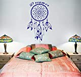 pegatinas de pared tortugas ninja Dream Catcher Feather Quote Dreamer Nuevo estilo Dormitorio Decoración Modern Decal