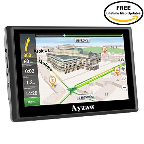 "Ayzaw Drive 720 World - Navegador GPS para Camión con Bluetooth FM 8GB/256MB Actualización Gratis de mapas de por vida y tráfico(pantalla de 7"", mapa Europa completo)"
