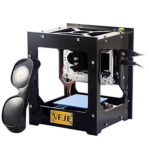 KKmoon 500mW USB Laser Graveur Imprimante Automatique Bricolage Machine Fonctionnement Off-Line avec Lunettes de (Laser Chiave Cutter)