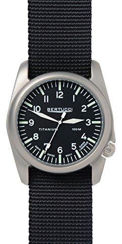 Bertucci 13456Unisex in acciaio inox quadrante nero in nylon nero smart watch