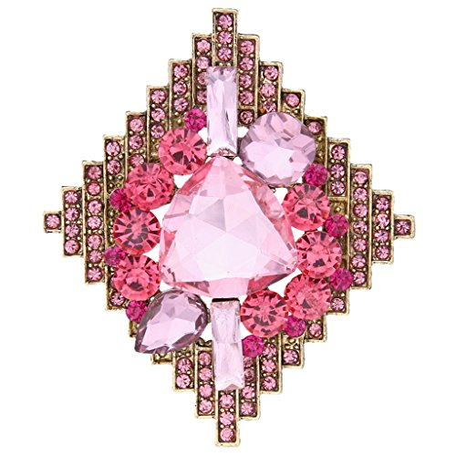 EVER FAITH® Strass Kristall Prom Rhombus Form Brosche (Prom Anzüge Ideen)