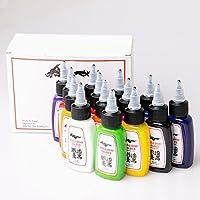 1 sets de 14 colores 1/2oz Kuo - Sumi mejor calidad Kuro Sumi 14 colores 15ML Tintas de pigmento del tatuaje 1 sets/lot
