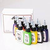 1 sets de 14 colores 1oz Kuo - Sumi mejor calidad Kuro Sumi 1oz 14 colores 15ML Tintas de pigmento del tatuaje 1 sets / lot