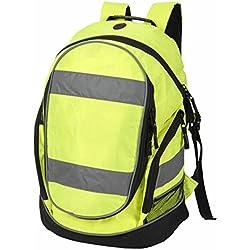 Shugon - Hi-Viz 8001 - Rucksack - sac à dos haute visibilité fluo - 23L - mixte homme / femme (Jaune fluo)
