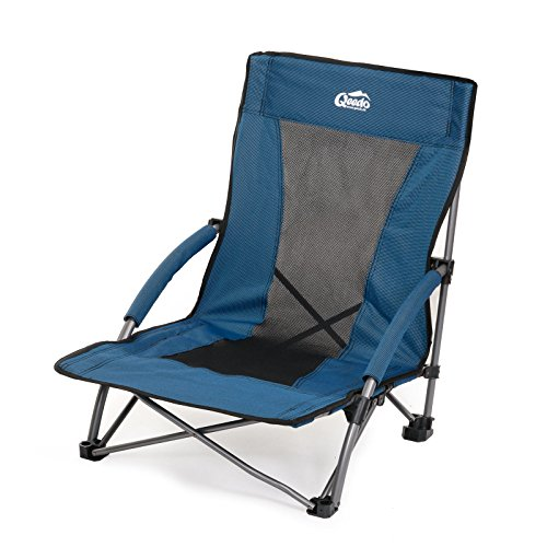 Mini-sand-stuhl (Qeedo Johnny Beach Strandstuhl (faltbar) inkl. Netzbelüftung (Gewicht: 3.180 g / Packmaß: 70x14x17 cm), breite Standfüße (Sand) & niedrige Sitzhöhe (22 cm))