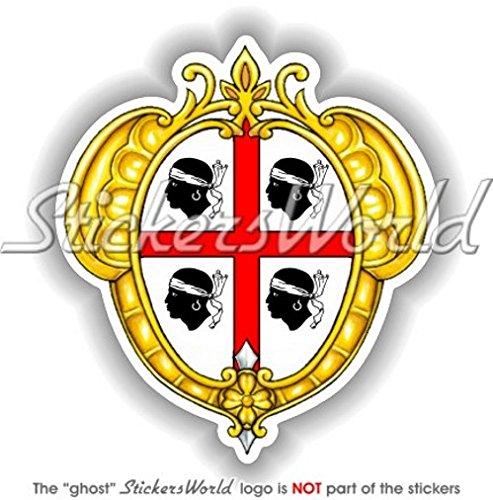 Écusson Badge armoiries de Sardaigne Sarde Italie Italien Sardaigne 95 mm (9,4 cm) Bumper Sticker en vinyle, en