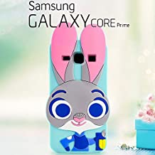 Funda Carcasa 3D Disney Conejita Judy Hopps Zootrópolis de Silicona Para Samsung Galaxy Core Prime - Zootopia Conejo Cover Cubierta Caso Case Skin