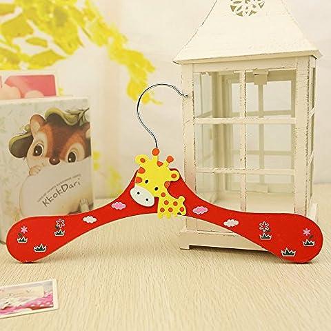 lesilverskys (TM)–Legno Cute Animal Cartoon per Bambini grucce appendiabiti ganci 3pezzi misti - Legno Bambino Hanger