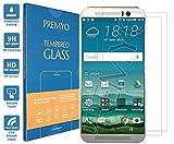PREMYO 2 Stück Panzerglas Schutzglas Bildschirmschutzfolie Folie kompatibel für HTC One M9 Blasenfrei HD-Klar 9H 2,5D Gegen Kratzer Fingerabdrücke
