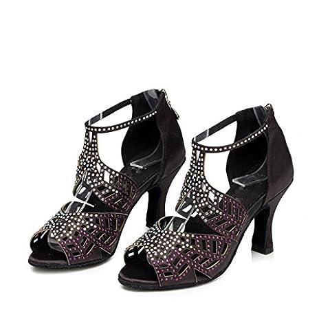 Tanzschuhe Damen Salsa Tango Latin High Heel Ballroom Soft Bottom