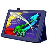 Hülle für Lenovo Tab 2 A10-70F 10.1 Zoll Schutzhülle Etui Tablet Tasche Smart Cover A10-70L (Blau)