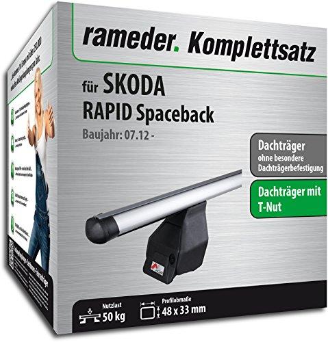 Rameder Komplettsatz, Dachträger Tema für Skoda RAPID Spaceback (118787-11519-12)