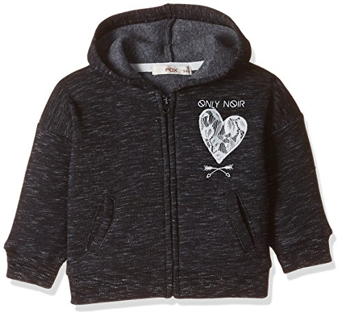 Fox Baby Girls' Jacket (662612060024_Black Melange_24)